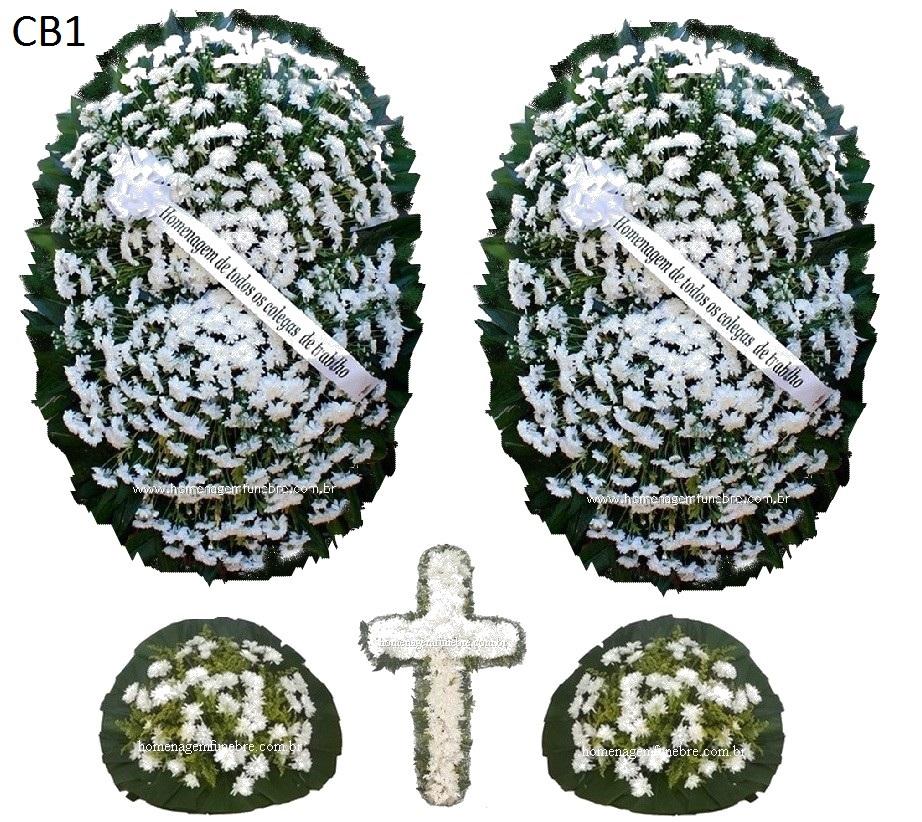 conjunto coroa de flores CB1