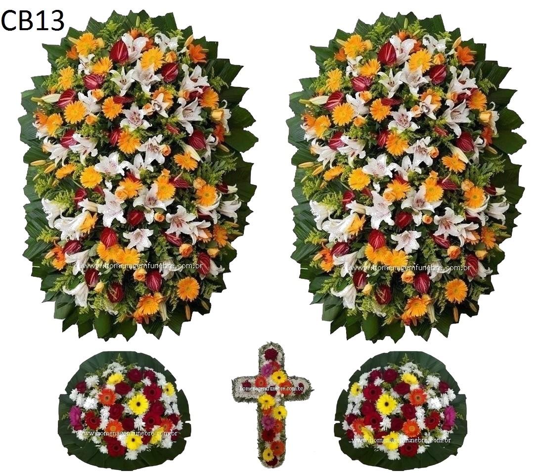 conjunto coroa de flores CB13