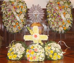 conjunto coroa de flores C11