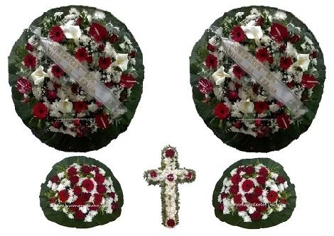 conjunto coroa de flores CA5