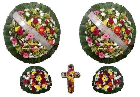 conjunto coroa de flores CA6
