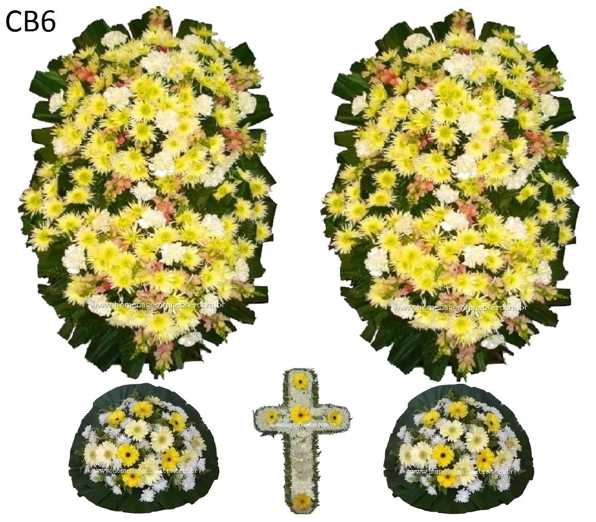 conjunto coroa de flores CB6