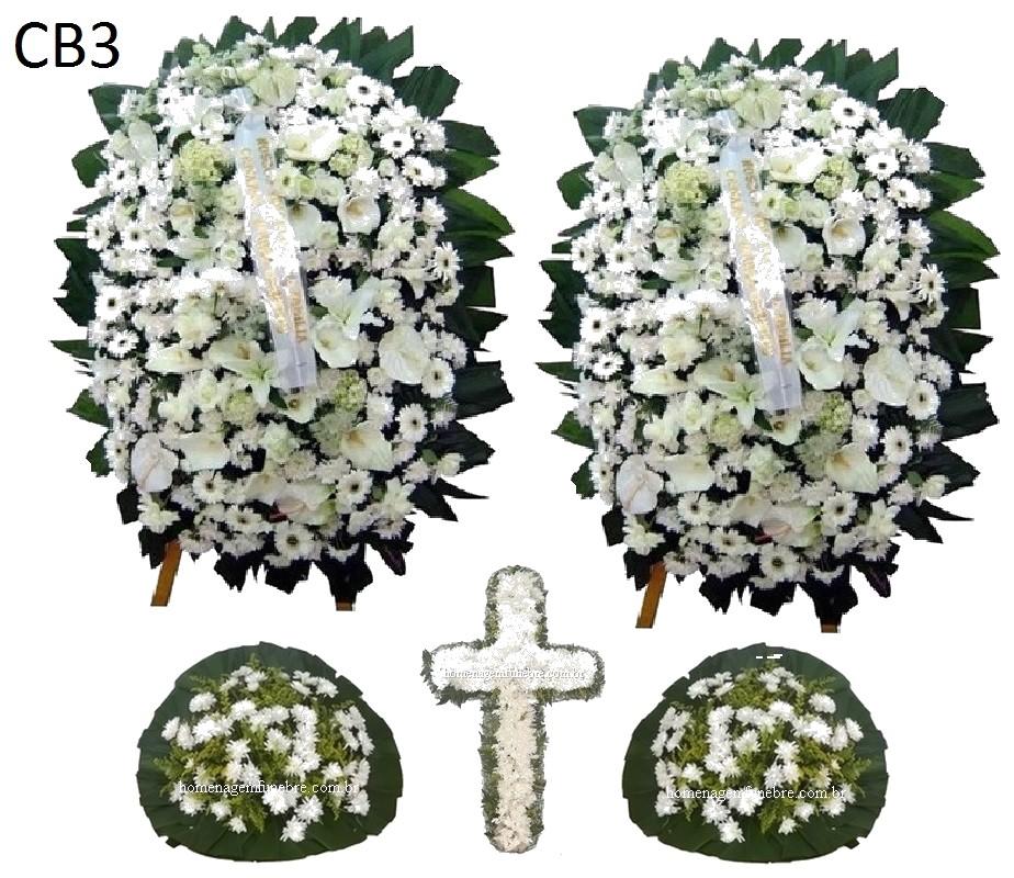 conjunto coroa de flores CB3