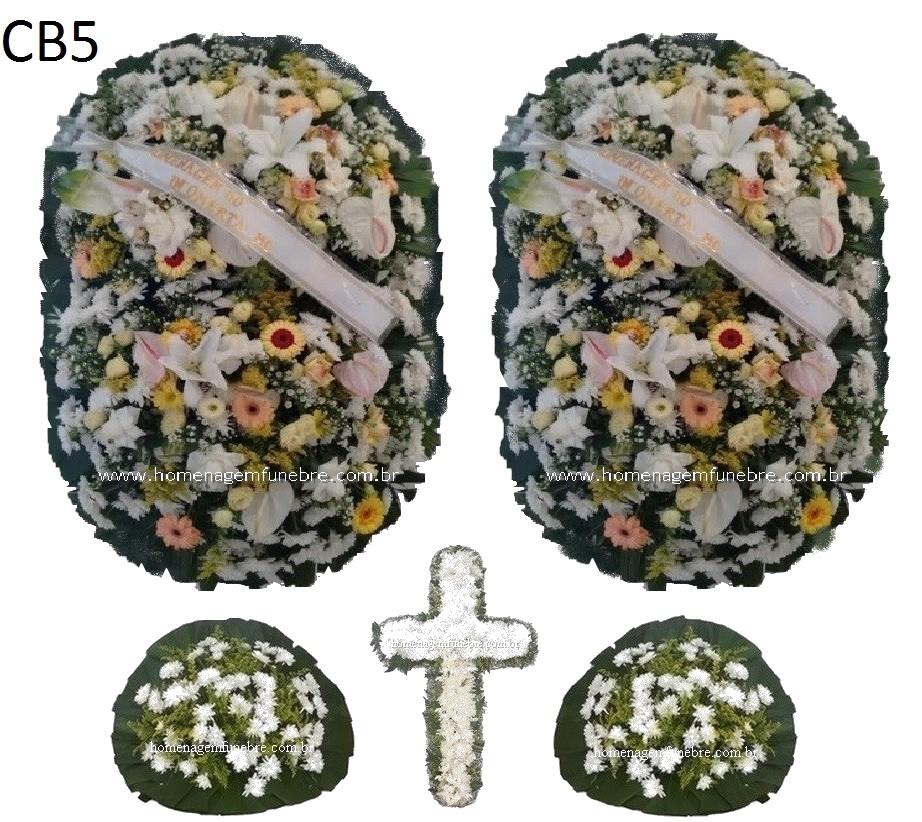 conjunto coroa de flores CB5