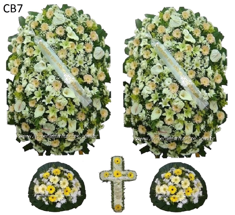 conjunto coroa de flores CB7