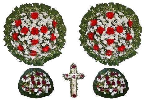 conjunto coroa de flores CA4