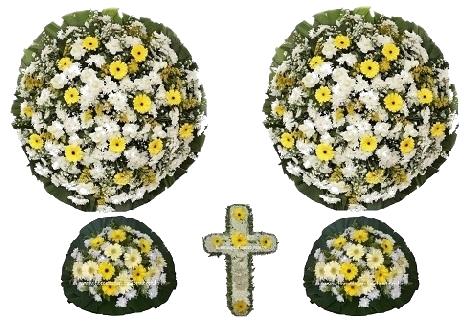 conjunto coroa de flores CA3