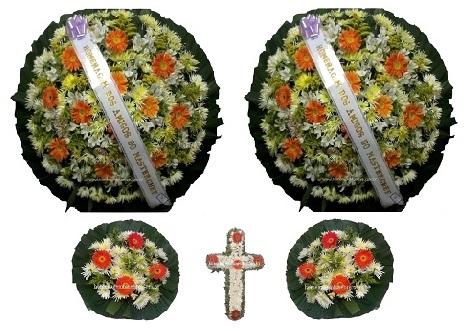 conjunto coroa de flores CA9